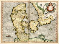 Vintage Map of Denmark (1596)
