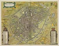 Vintage Map of Brussels Belgium (1698)