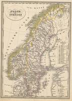 Vintage Map of Scandinavia (1857)