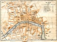 Vintage Map of Pisa Italy (1913)
