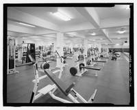 Black and White Weight Room Photograph