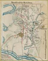 Vintage Map of Antietam Battlefield (1865)
