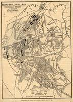 Vintage Battle of Bull Run Map (1886)