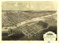 Vintage Map of Bay City Michigan (1867)
