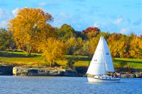 _DSC1032 Sailboat 2 & Fall Trees