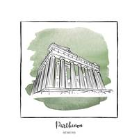 Parthenon Brushstroke Buildings