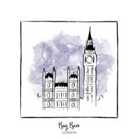 Big Ben Brushstroke Buildings