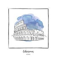 Colosseum Brushstroke Buildings