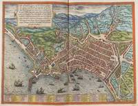Vintage Map of Naples Italy (1572)