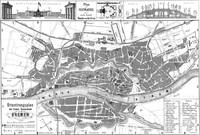 Vintage Map of Bremen Germany (1865)