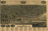 Vintage Pictorial Map of Burlington Iowa (1889)