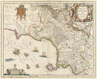 Vintage Map of Campania Italy (1662)
