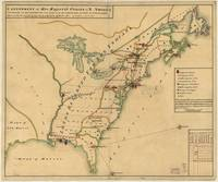 Vintage Map of British Forces in America (1766)