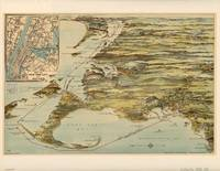 Vintage Cape Cod and NYC Steamboat Route Map