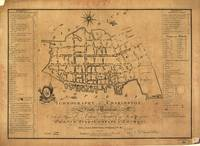 Vintage Map of Charleston South Carolina (1790)