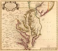 Vintage Map of The Chesapeake Bay (1719)