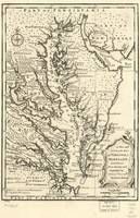 Vintage Map of The Chesapeake Bay (1752)