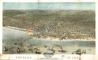 Vintage Pictorial Map of Chicago (1868)