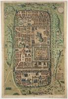 Vintage Map of Jerusalem Israel (1584)