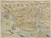 Vintage Pictorial Map of Constantinople (1620)