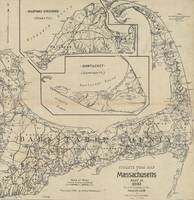 Vintage Cape Cod Cyclist Map (1893)