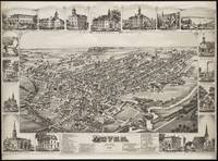 Vintage Pictorial Map of Dover Delaware (1885)