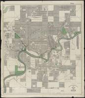 Vintage Map of Edmonton Canada (1912)