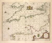 Vintage Map of The English Channel (1672)