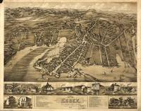 Vintage Pictorial Map of Essex Connecticut (1881)