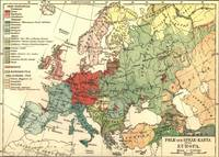 Vintage Linguistic Map of Europe (1907)