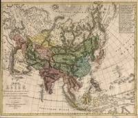 Vintage Map of Asia (1805)