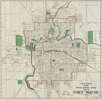 Vintage Map of Fort Wayne Indiana (1919)