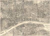 Vintage Map of Frankfurt Germany (1864)
