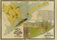 Vintage Map of Galveston Texas (1891)