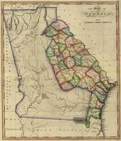 Vintage Map of Georgia (1817)
