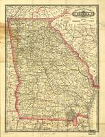 Vintage Map of Georgia (1883)
