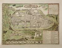 Vintage Map of Jerusalem Israel (16th Century)