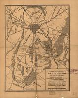 Vintage Map of The Gettysburg Battlefield (1863) 4