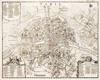 Vintage Map of Paris France (1742)