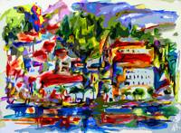 Abstract Amalfi Italy Travel Modern Decor