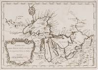 Vintage Map of The Great Lakes (1757)