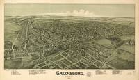 Vintage Pictorial Map of Greensburg PA (1901)