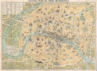 Vintage Map of Paris France (1890)