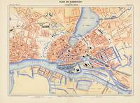 Vintage Map of Hamburg Germany (1888)
