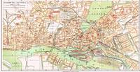 Vintage Map of Hamburg Germany (1890)