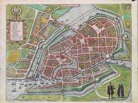 Vintage Map of Hamburg Germany (1590)