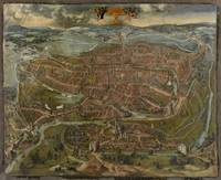 Vintage Map of Ghent Belgium (1534)