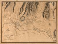 Vintage Map of Honolulu Hawaii (1887)