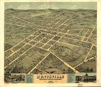 Vintage Pictorial Map of Huntsville Alabama (1871)