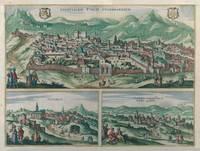 Vintage Map of Jerusalem, Nazareth and Rame Israel